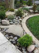 Beautiful front yard rock garden landscaping ideas (22)