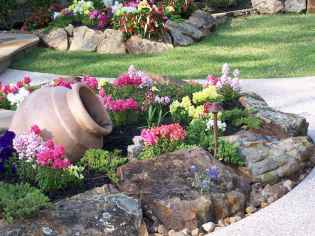 Beautiful front yard rock garden landscaping ideas (32)
