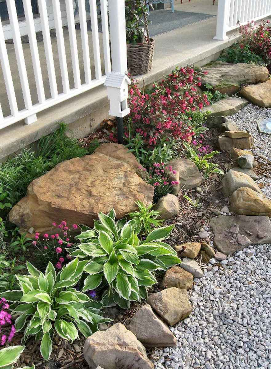 Beautiful Front Yard Rock Garden Landscaping Ideas 64