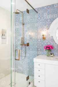 Cool small bathroom shower remodel ideas (57)