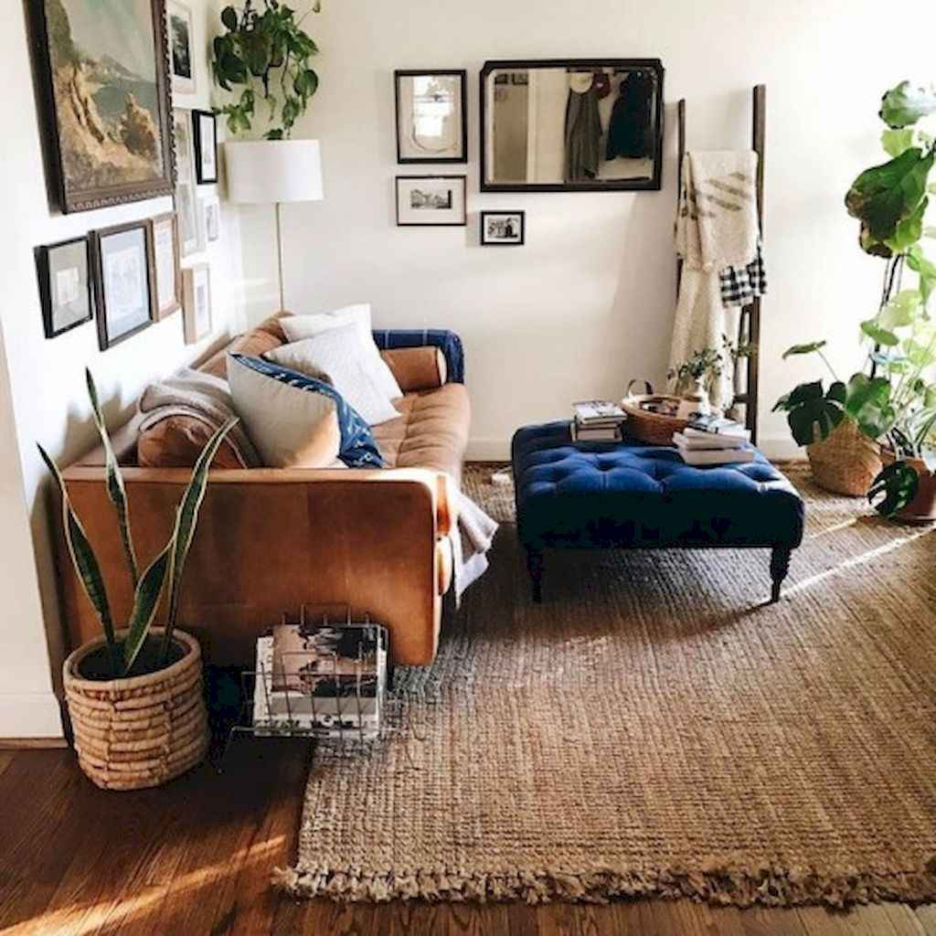 Cozy bohemian style living room decorating ideas (14)