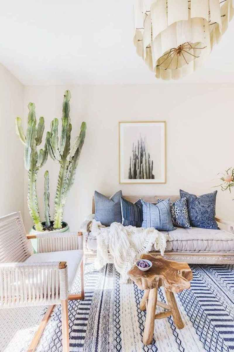 Cozy bohemian style living room decorating ideas (48)