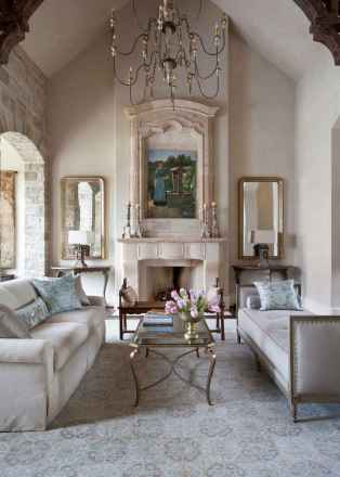 Fancy french country living room decorating ideas (23)