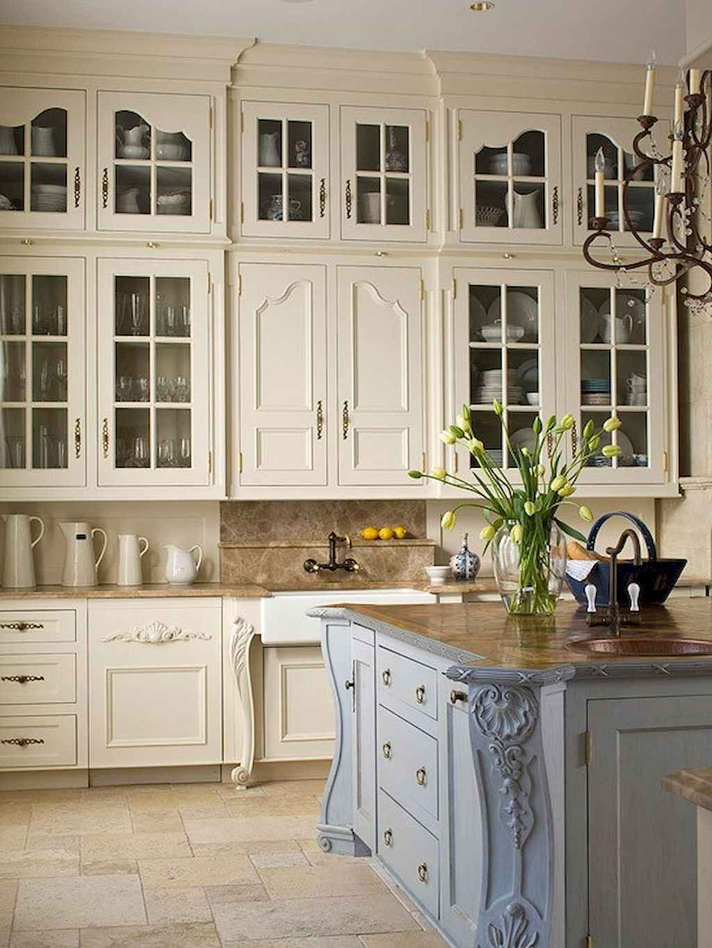 Incredible french country kitchen design ideas (14)