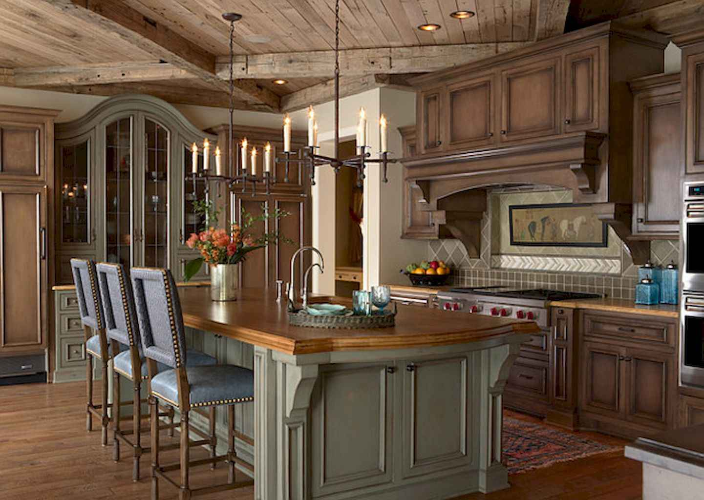 Incredible french country kitchen design ideas (28)