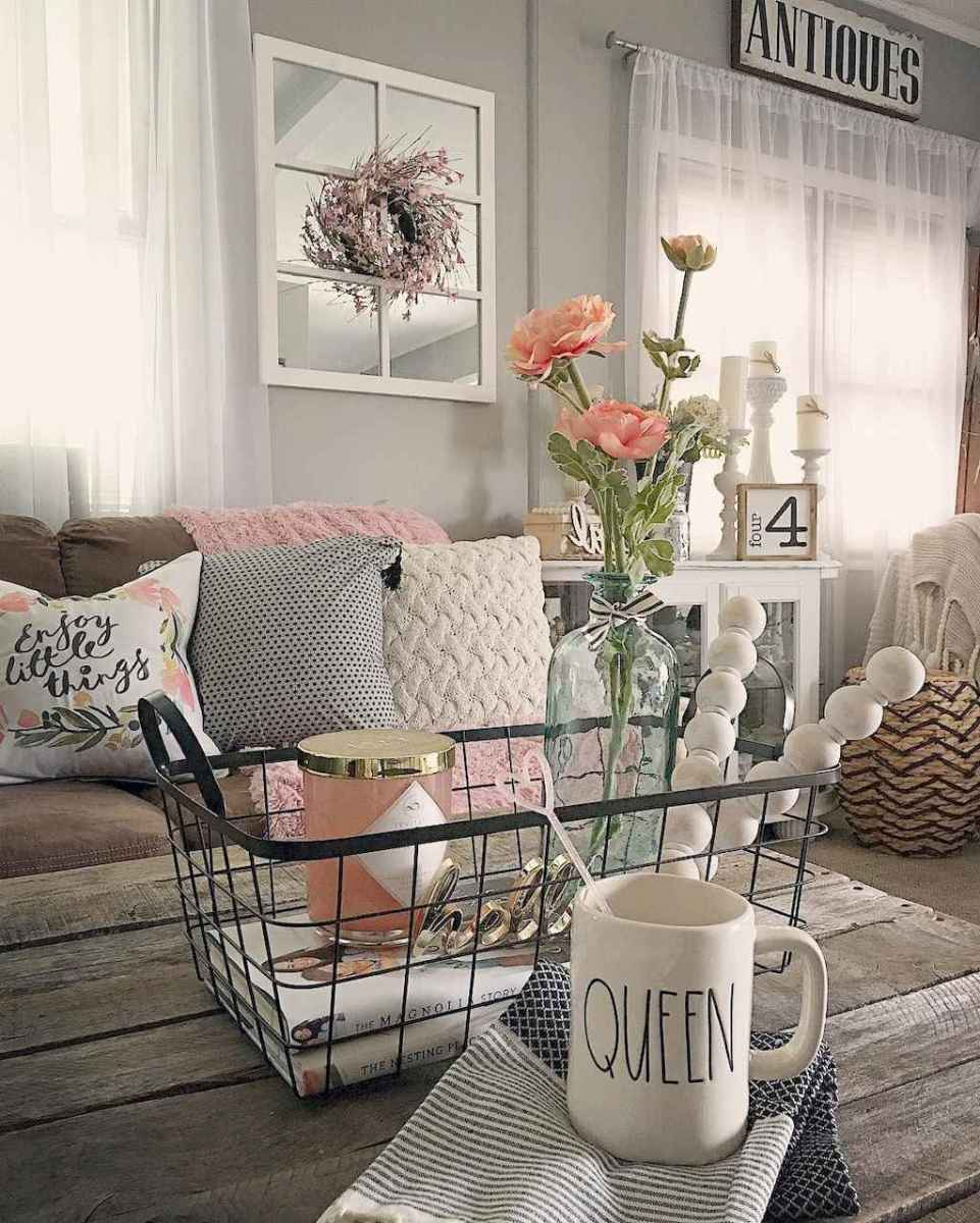 Rustic farmhouse living room design and decor ideas (4)