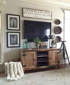 Rustic farmhouse living room design and decor ideas (42)