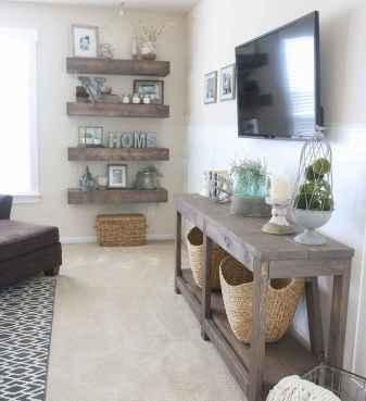 Rustic farmhouse living room design and decor ideas (58)