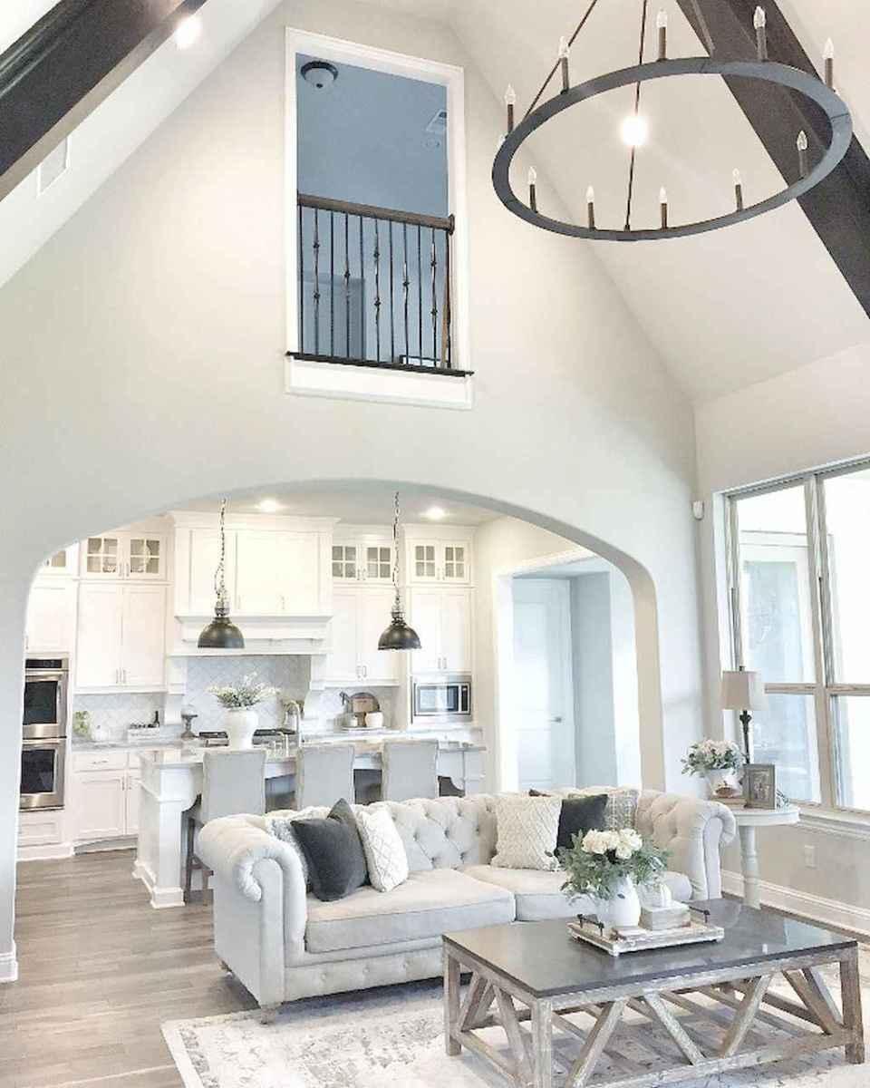 Rustic farmhouse living room design and decor ideas (7)