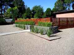 Simple clean modern front yard landscaping ideas (12)