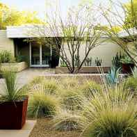 Simple clean modern front yard landscaping ideas (24)