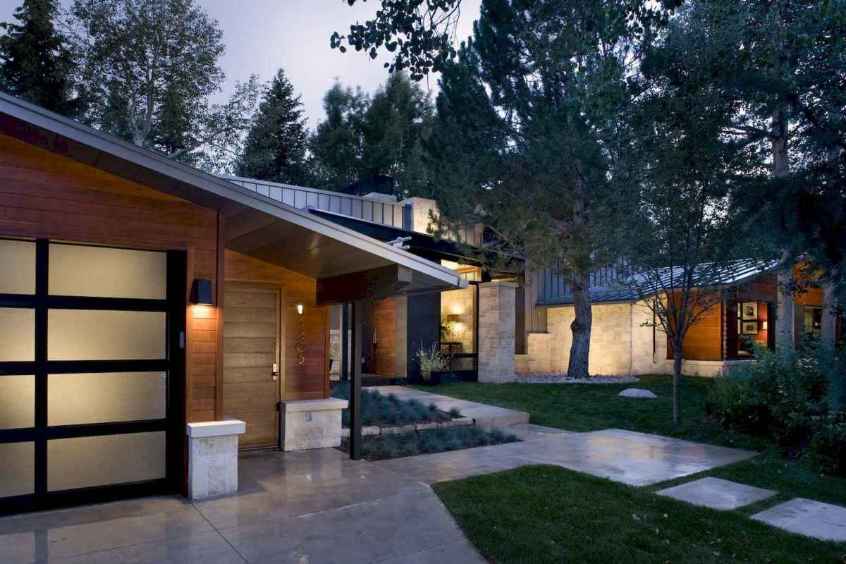 Simple clean modern front yard landscaping ideas (29)