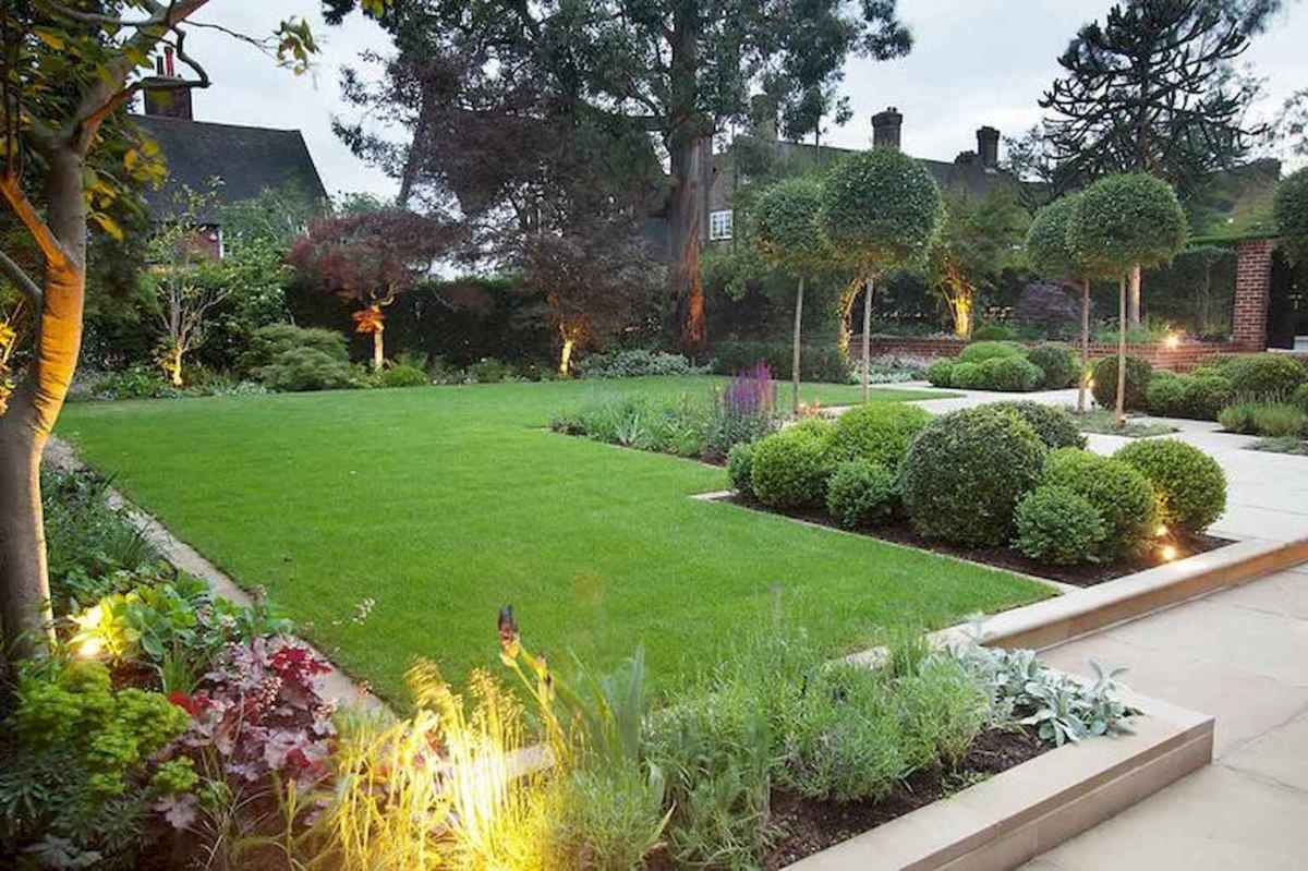 Simple clean modern front yard landscaping ideas (34)
