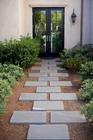 Simple clean modern front yard landscaping ideas (36)