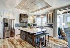 Stylish and inspired farmhouse kitchen island ideas and designs (31)