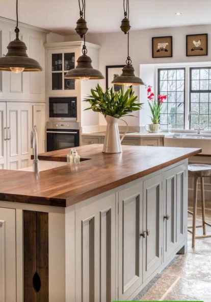 Stylish and inspired farmhouse kitchen island ideas and designs (56)