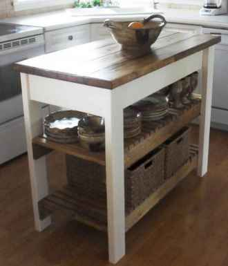 Stylish and inspired farmhouse kitchen island ideas and designs (69)