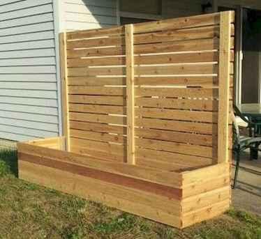 Wooden privacy fence patio & garden ideas (13)