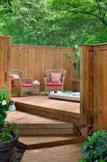 Wooden privacy fence patio & garden ideas (24)