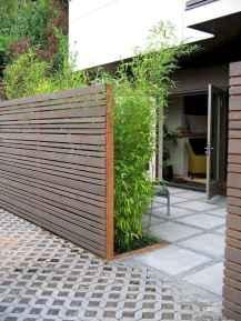 Wooden privacy fence patio & garden ideas (29)