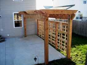 Wooden privacy fence patio & garden ideas (39)