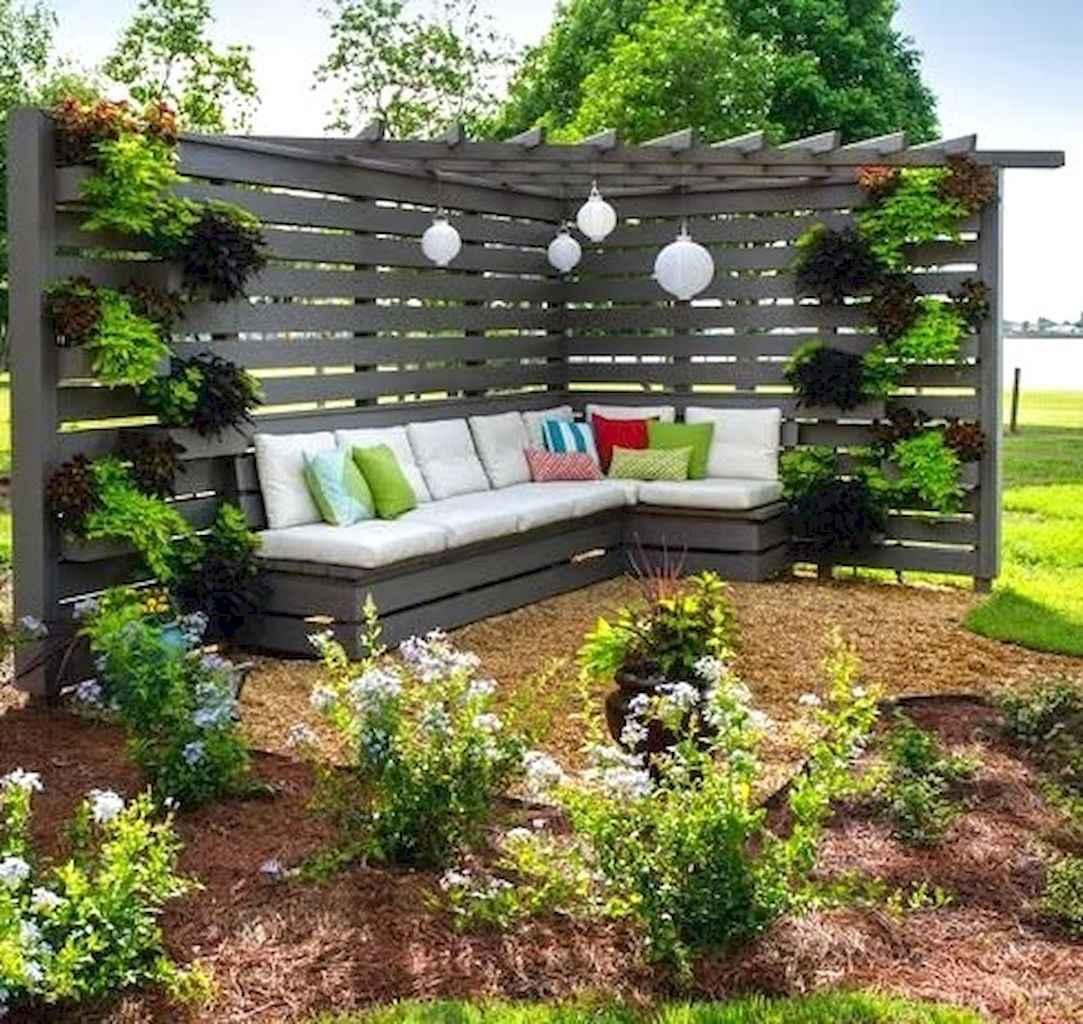 Wooden privacy fence patio & garden ideas (65)
