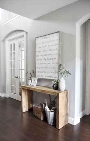 Catchy farmhouse rustic entryway decor ideas (28)
