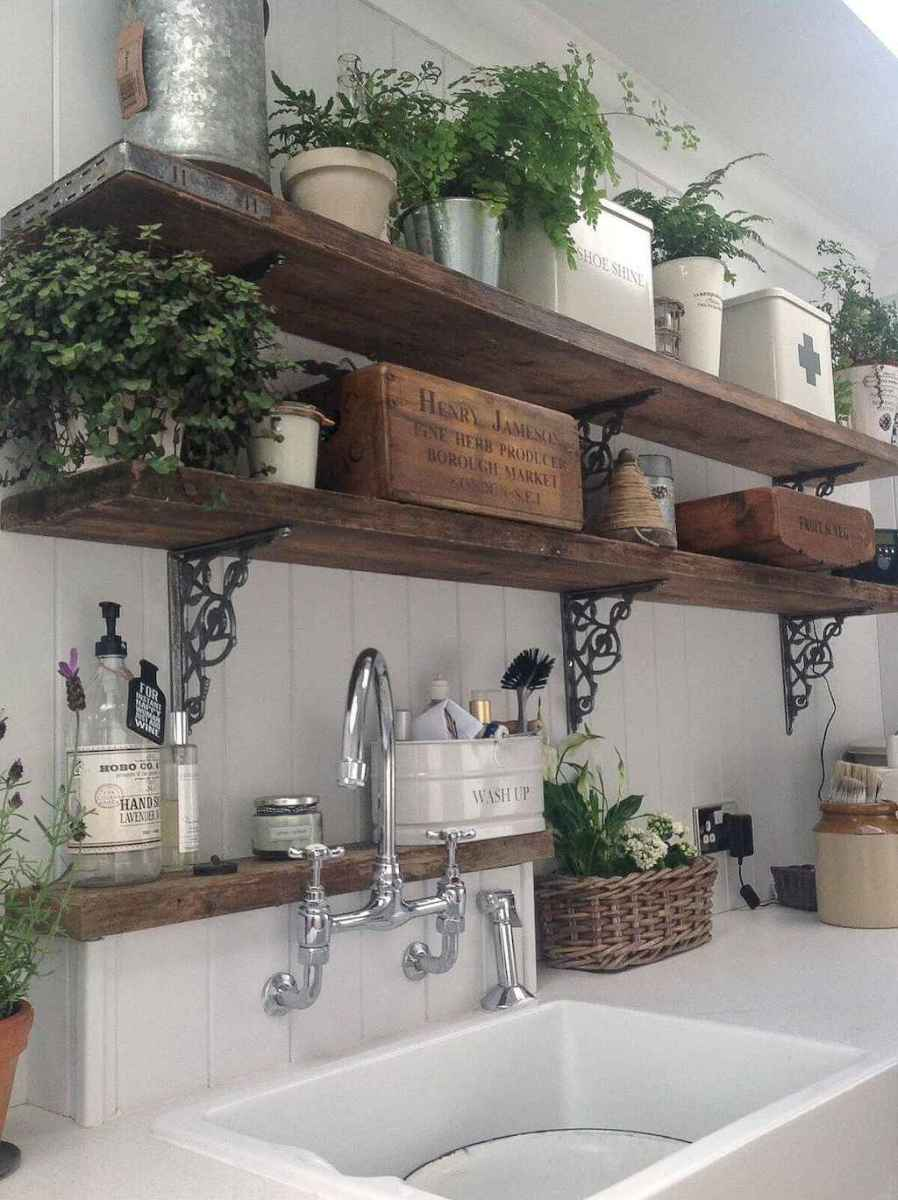 Clever small kitchen remodel and open shelves ideas (23)