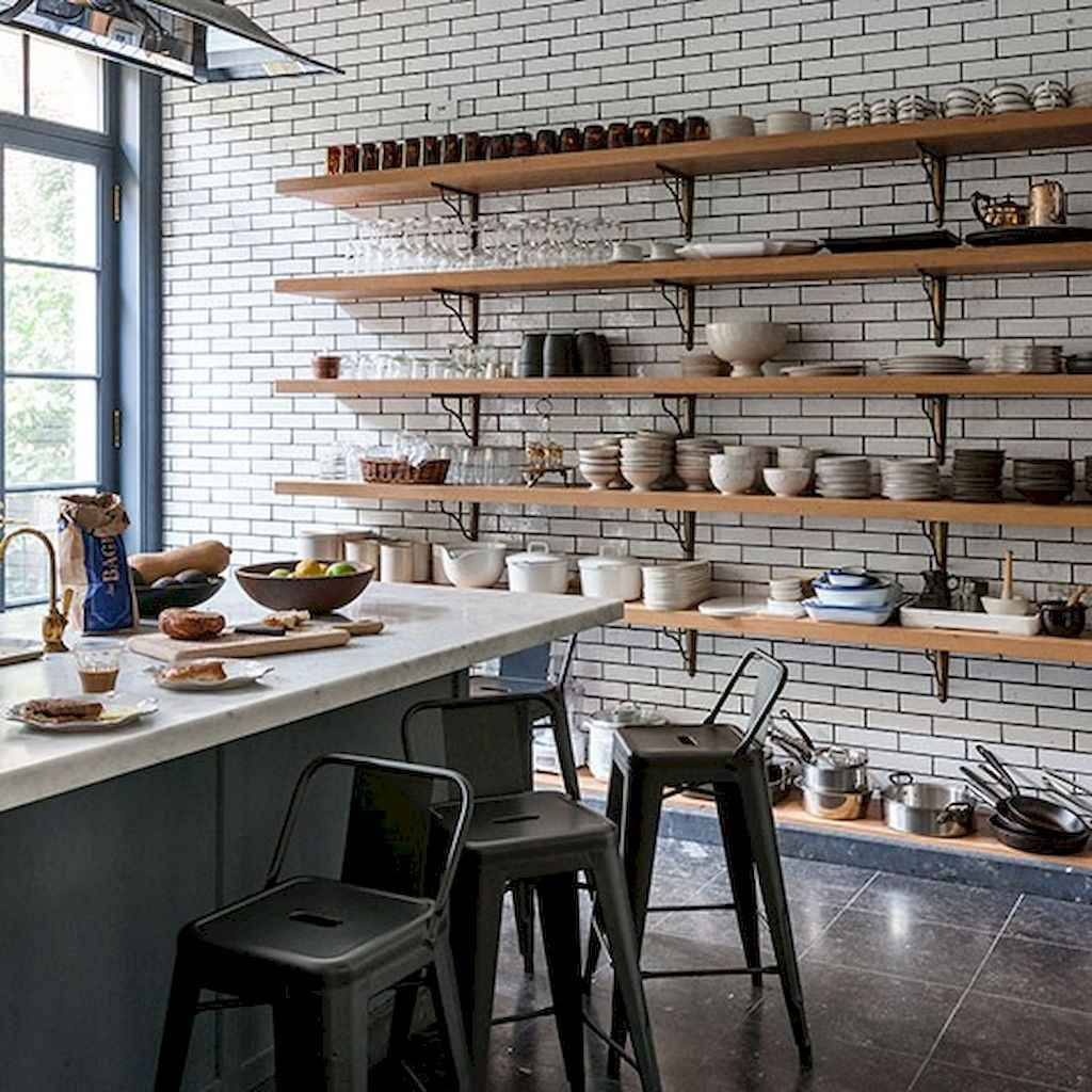 Clever small kitchen remodel and open shelves ideas (24)