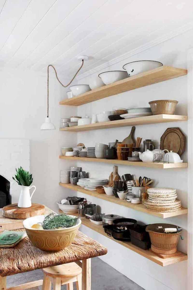 Clever small kitchen remodel and open shelves ideas (36)