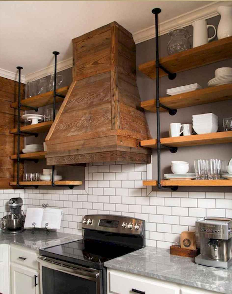 Clever small kitchen remodel and open shelves ideas (39)