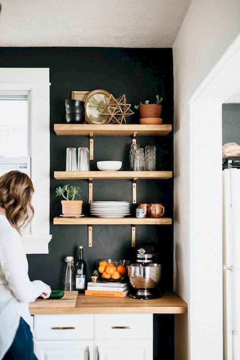 Clever small kitchen remodel and open shelves ideas (40)