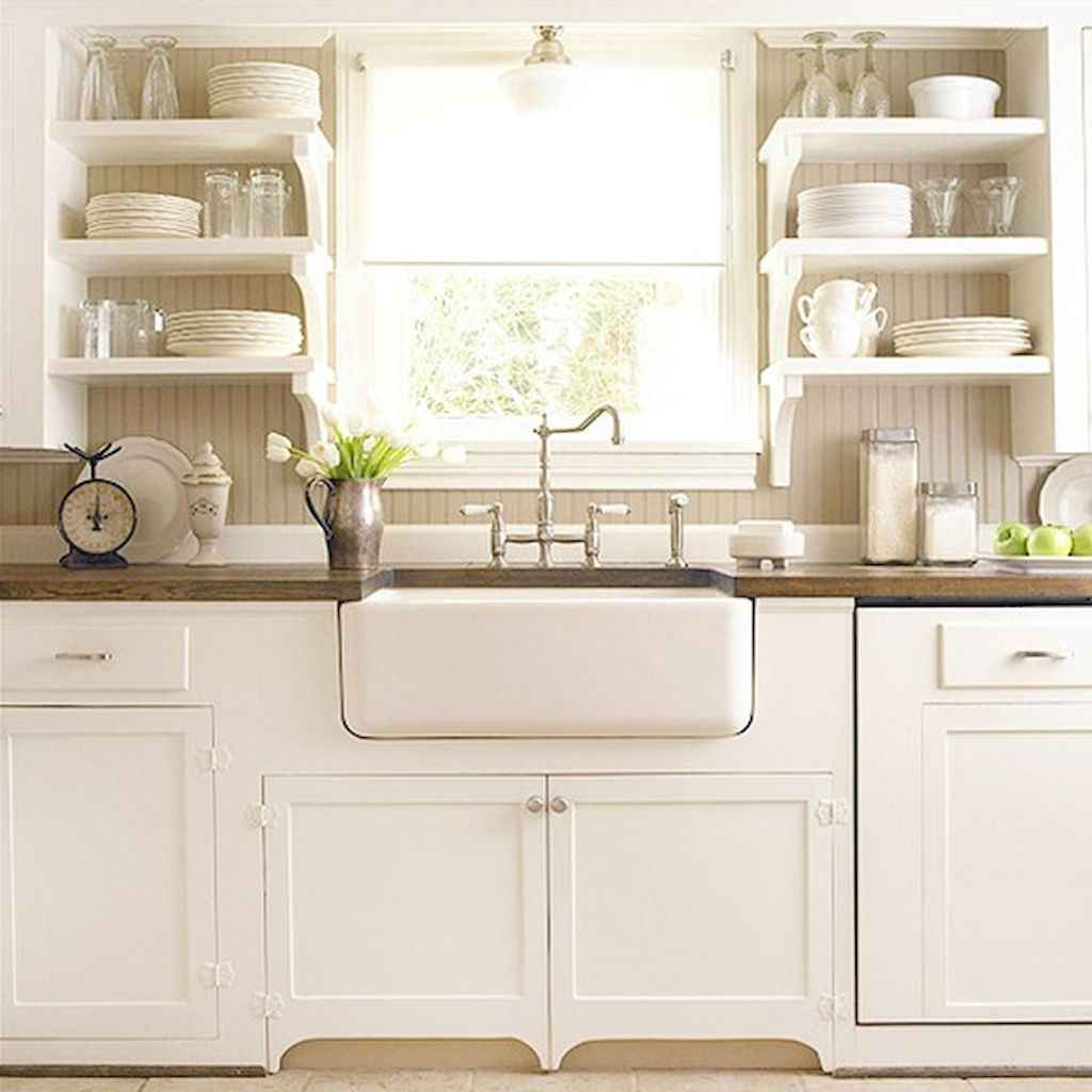 Clever small kitchen remodel and open shelves ideas (63)