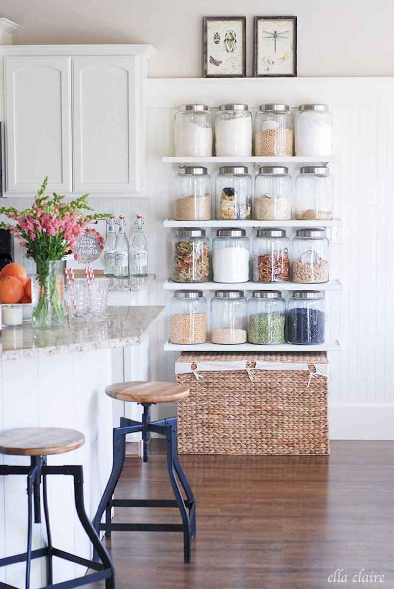 Clever small kitchen remodel and open shelves ideas (65)