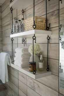 Cool bathroom storage shelves organization ideas (21)