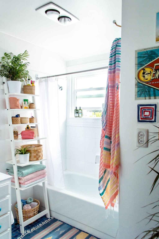 Cool bathroom storage shelves organization ideas (27)