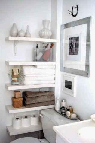 Cool bathroom storage shelves organization ideas (34)