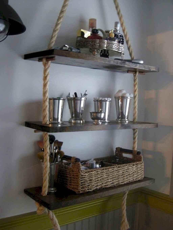 Cool bathroom storage shelves organization ideas (37)