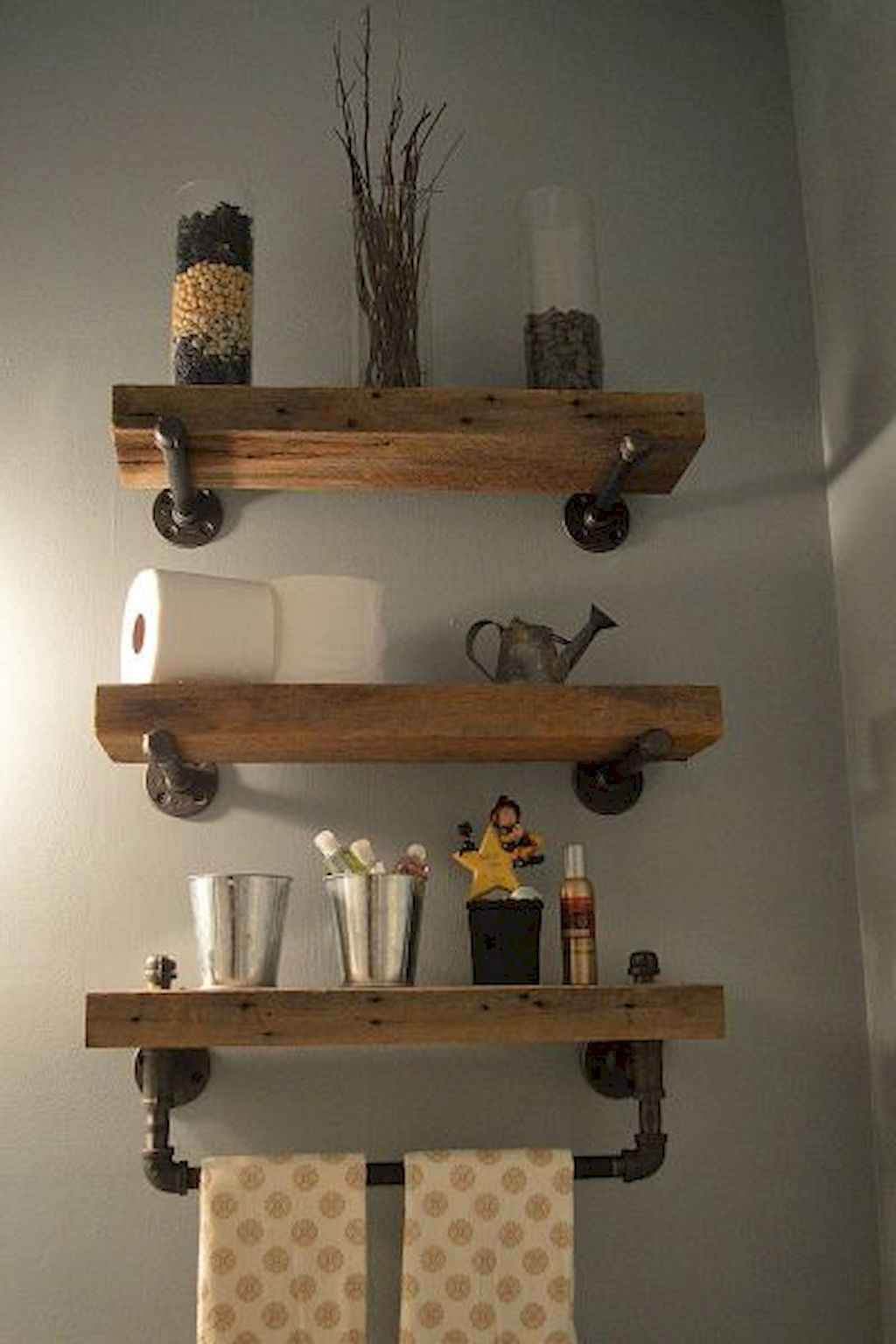 Cool bathroom storage shelves organization ideas (42)