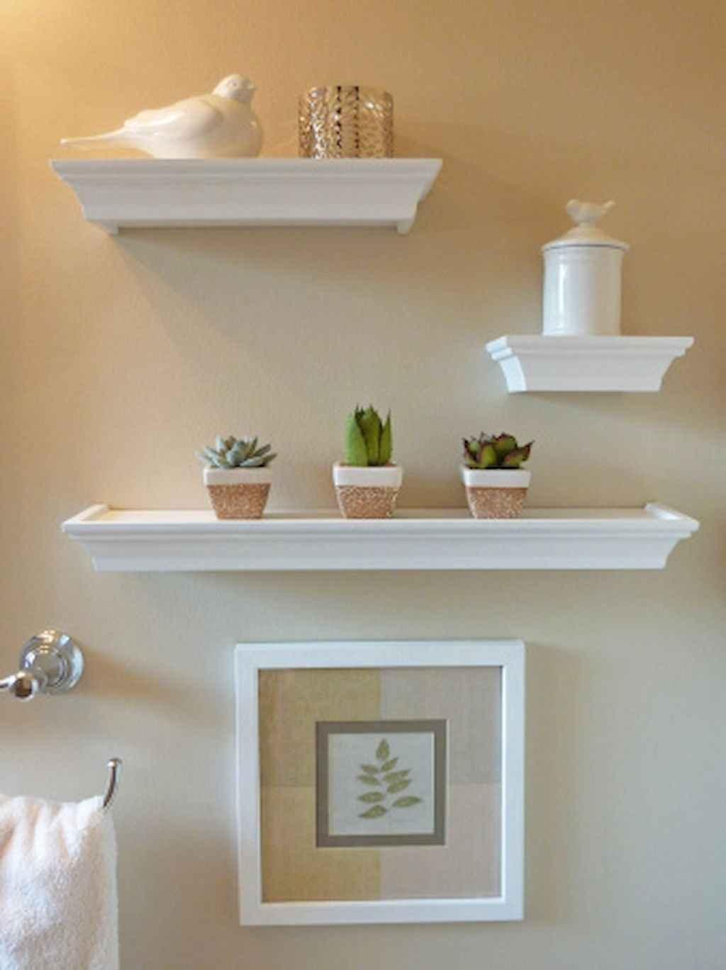 Cool bathroom storage shelves organization ideas (45)