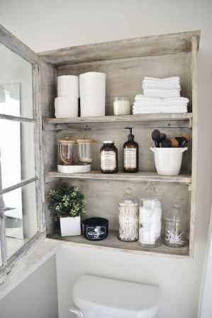 Cool bathroom storage shelves organization ideas (46)