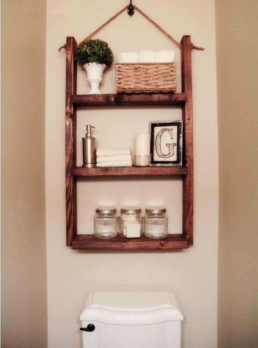 Cool bathroom storage shelves organization ideas (47)