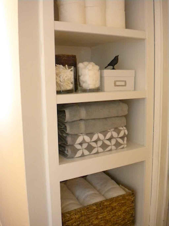 Cool bathroom storage shelves organization ideas (57)