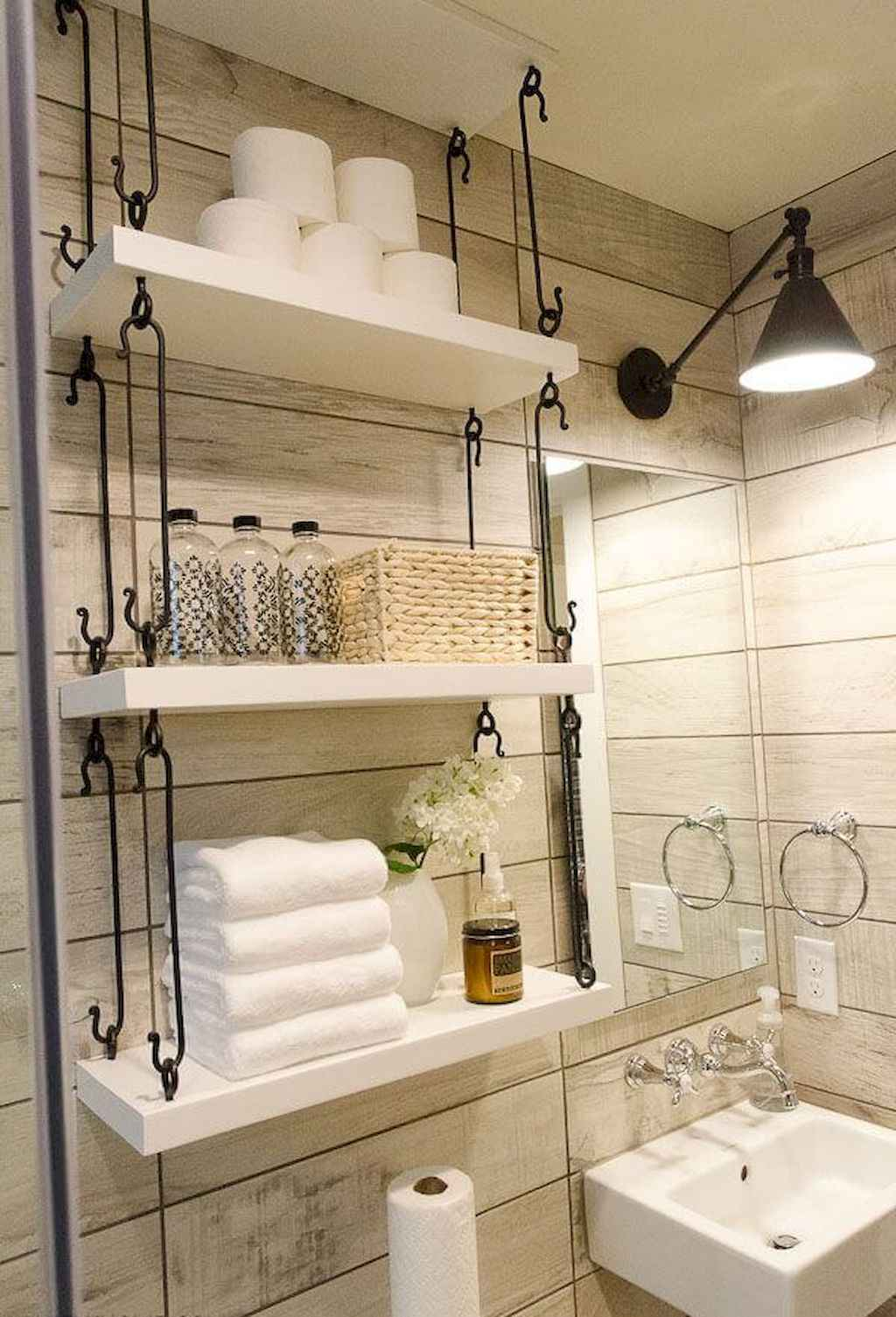 Cool bathroom storage shelves organization ideas (62)