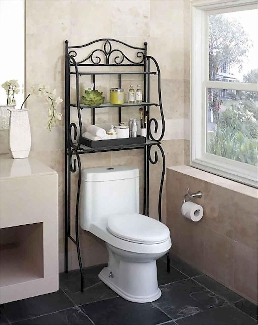 Cool bathroom storage shelves organization ideas (63)