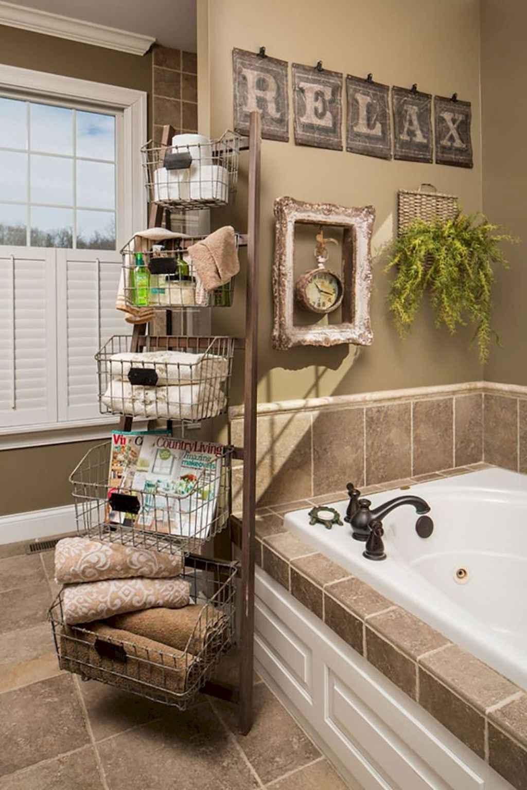 Cool bathroom storage shelves organization ideas (64)