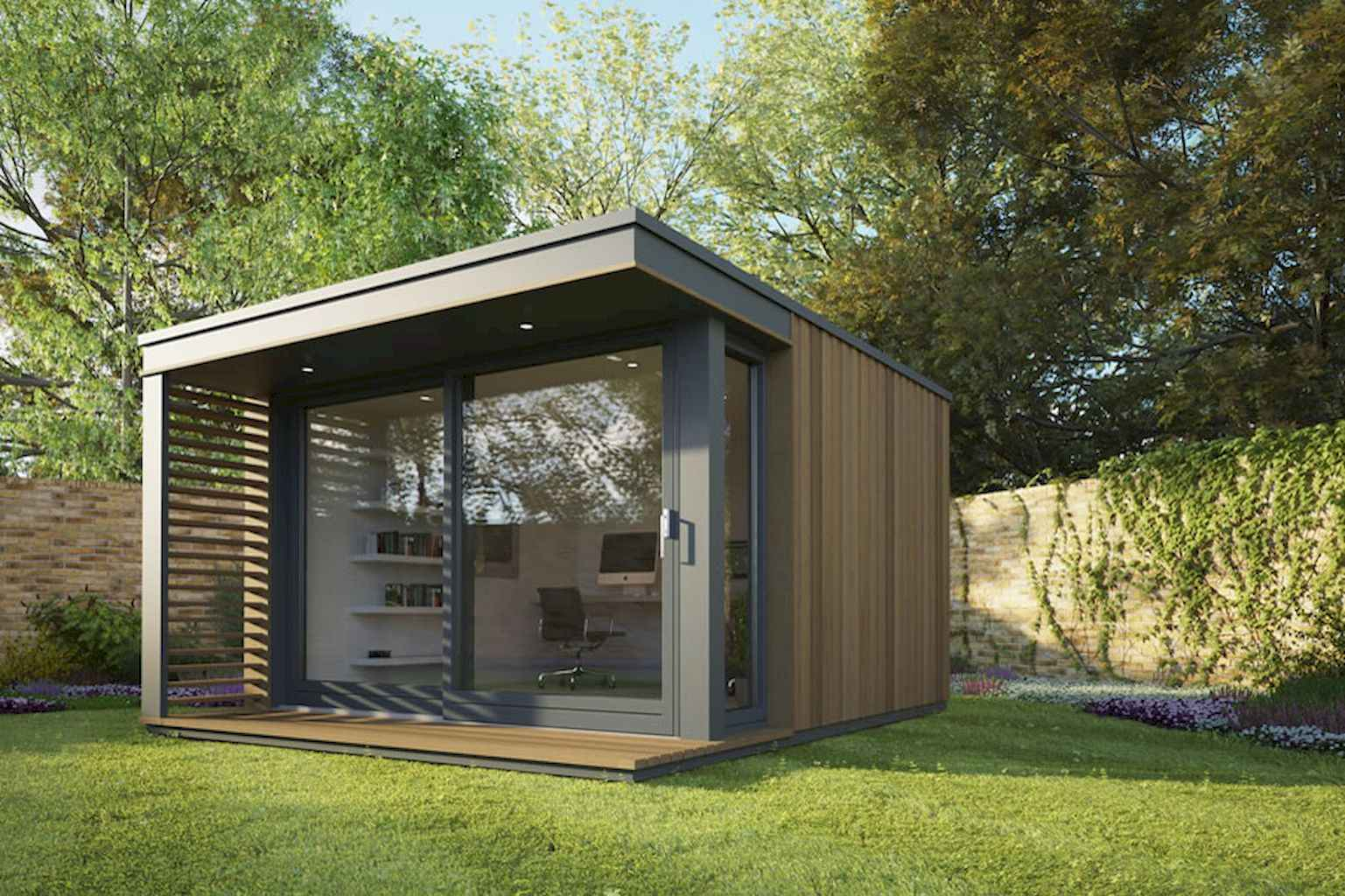 Cool diy backyard studio shed remodel design & decor ideas (20)