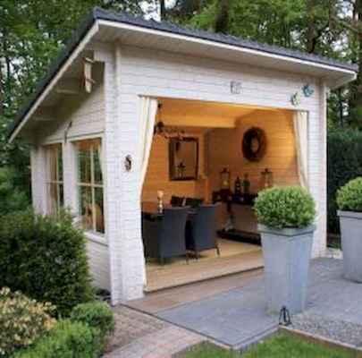 Cool diy backyard studio shed remodel design & decor ideas (24)