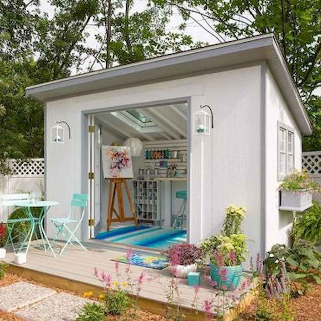 Cool diy backyard studio shed remodel design & decor ideas (45)