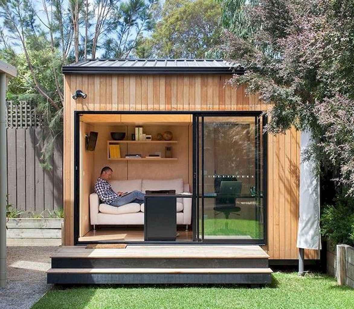 Cool diy backyard studio shed remodel design & decor ideas (7)